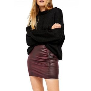 HOST PICK Free People Rumi Faux Leather Skirt